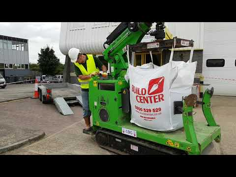 The Hooka Pick And Carry Crawler Crane Safely Moving Bulk Bag, Better Than A Forklift