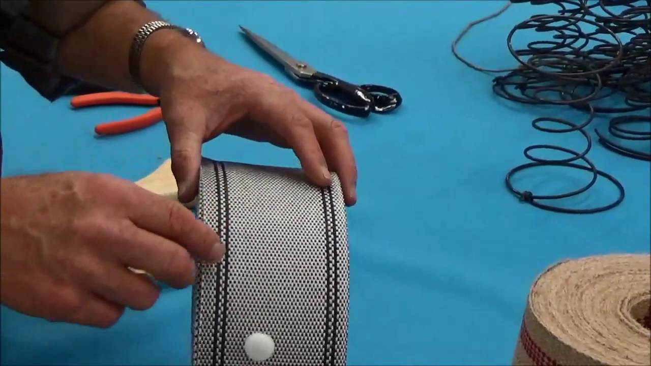 Upholstery Basics: Using Webbing in Upholstery, Part I: Overview