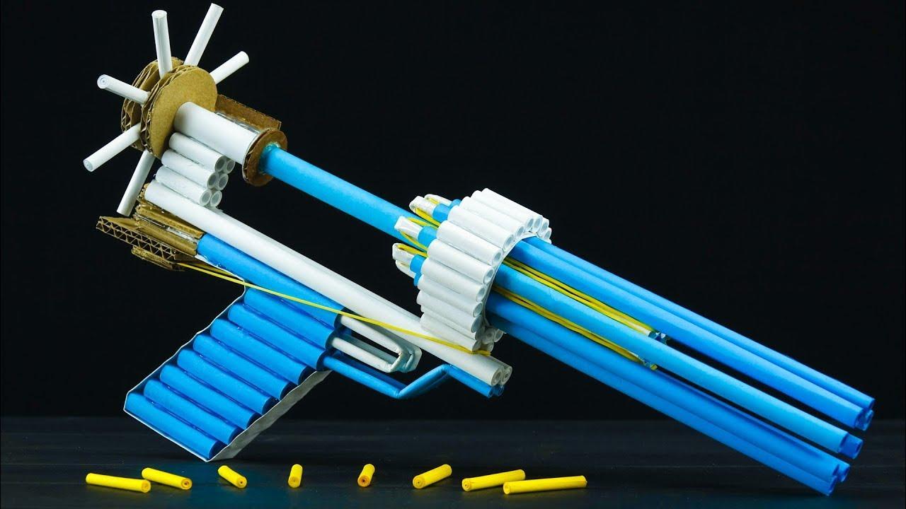 diy space paper gun that shoots 8 bullets  youtube