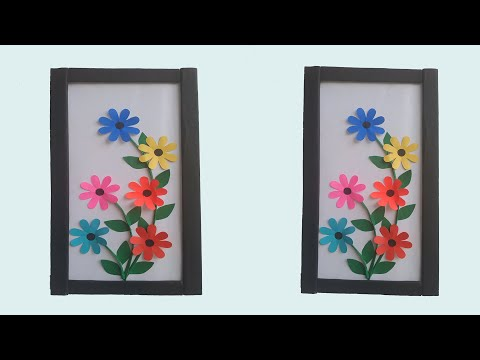 Beautiful handmade wall decoration ideas    Paper crafts    Frame wall hanging