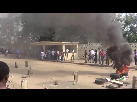 Manifestations estudiantines à L
