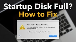 Startup Disk Full on Mac? How to Fix (Delete