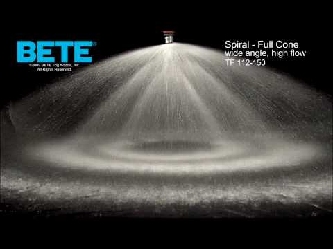 Full Cone Spiral Spray Nozzles Bete Tf 112 150 Youtube