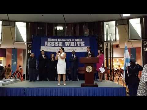 Lily Perez sings the National Anthem 2016