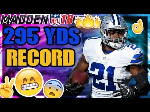 CAN WE BREAK MADDEN NFL 18 RUSHING RECORD ONLINE H2H?