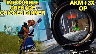 Trying 3X on AKM | Got an unexpected Chicken Dinner | Pubg Mobile | Rowdy gaming