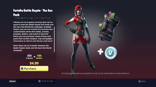 Nouveau pack starter! (L'As) Fortnite: Bataille Royale