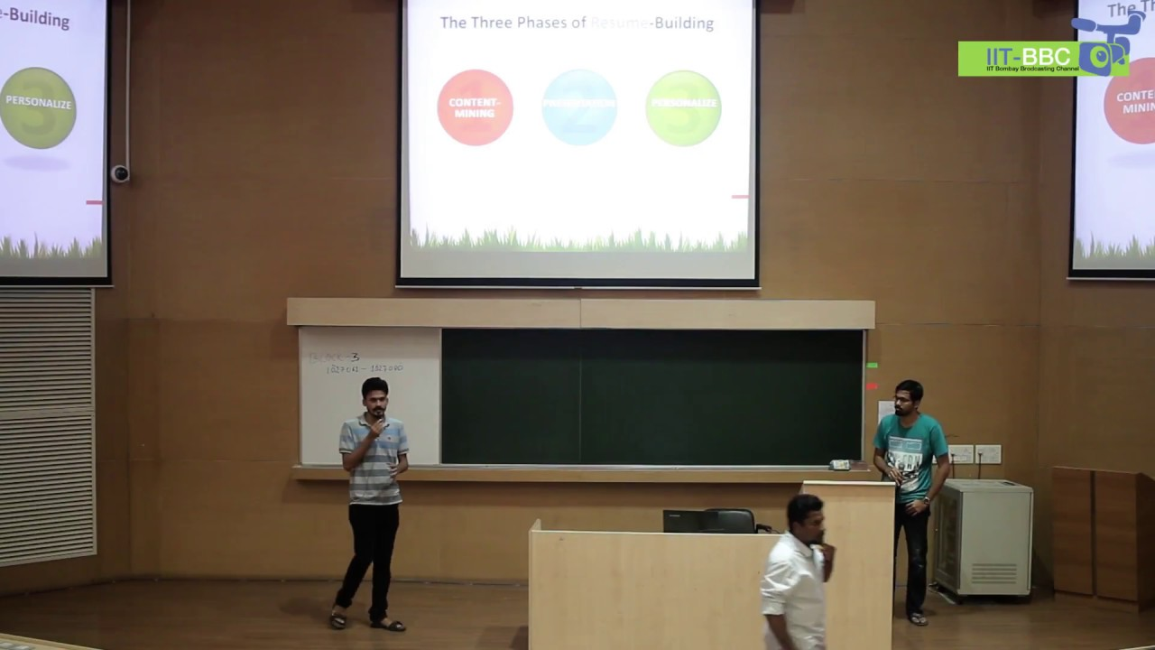 Resume Workshop For Pg Students At Iit Bombay