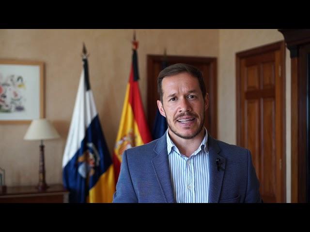 El presidente del Cabildo de La Palma felicita el Día de Canarias a todos los palmeros y Palmeras.
