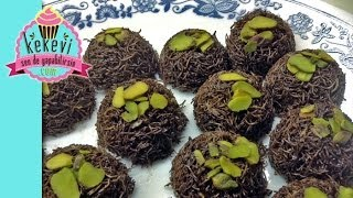 Sadece 2 Malzemeyle Çikolatalı Kadayıf Topları Yapın.. - Kekevi Yemek Tarifleri