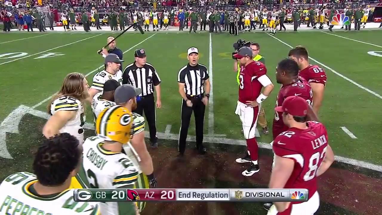 Fail Coin Toss Doesn T Flip For Ot Packers Vs Cardinals Nfl