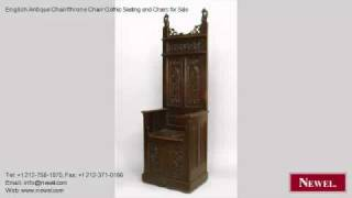 English Antique Chair/throne Chair Gothic Seating and Chairs