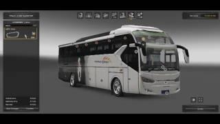 ETS 2 Bus SR2 Legacy Sky Bus Mod Test