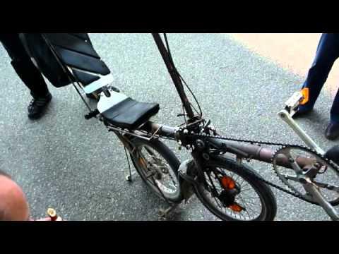 Selfmade folding recumbent bike 14 years old!
