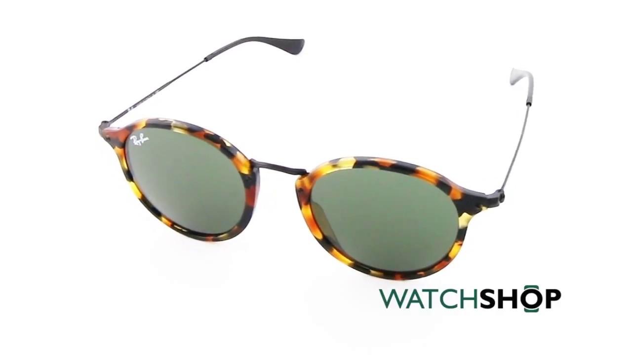6f889c00bf6d9 Ray-Ban Men s Round Fleck Sunglasses (RB2447-1157-49) - YouTube