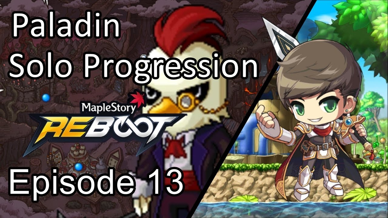 Maplestory Reboot GMS | Episode 13: Taking on Von Bon | Paladin Solo Progression