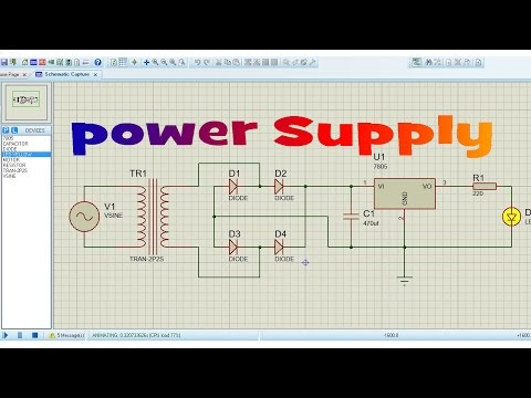 How to Make Power Supply Circuit in Proteus