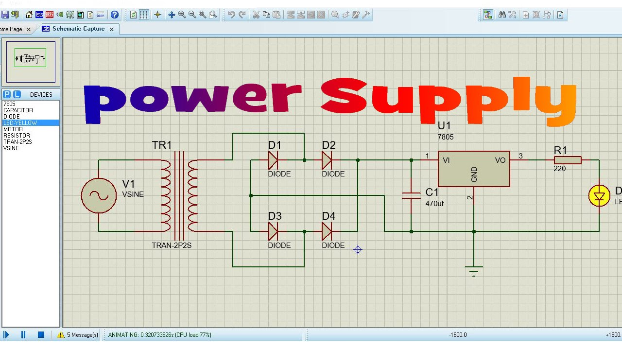 Dc Regulated Power Supply Circuit Diagram Sony Wiring Harness How To Make In Proteus - Youtube