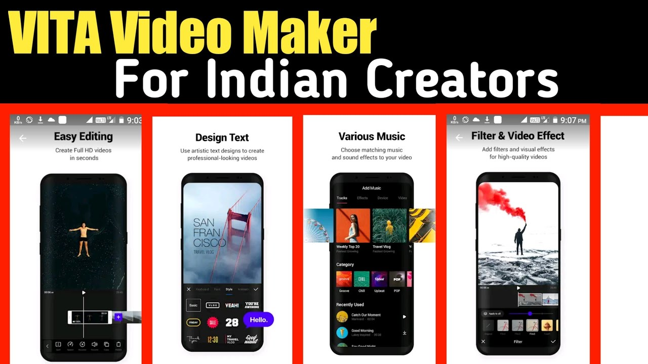 VITA - Video Maker For Indian Creator | By Tech Yalgaar - YouTube