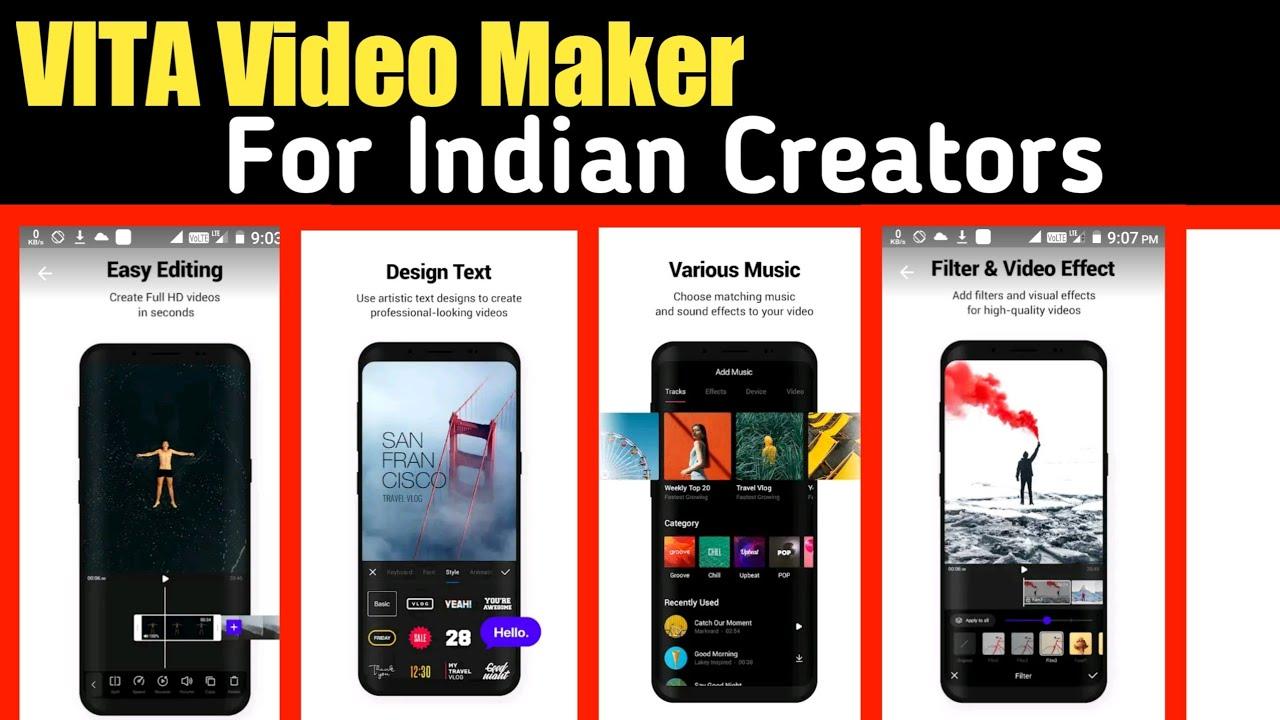 VITA - Video Maker For Indian Creator | By Tech Yalgaar - YouTube