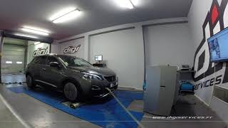 Peugeot 3008 1.6 Bluehdi 120cv AUTO Reprogrammation Moteur @ 133 Digiservices Paris 77 Dyno