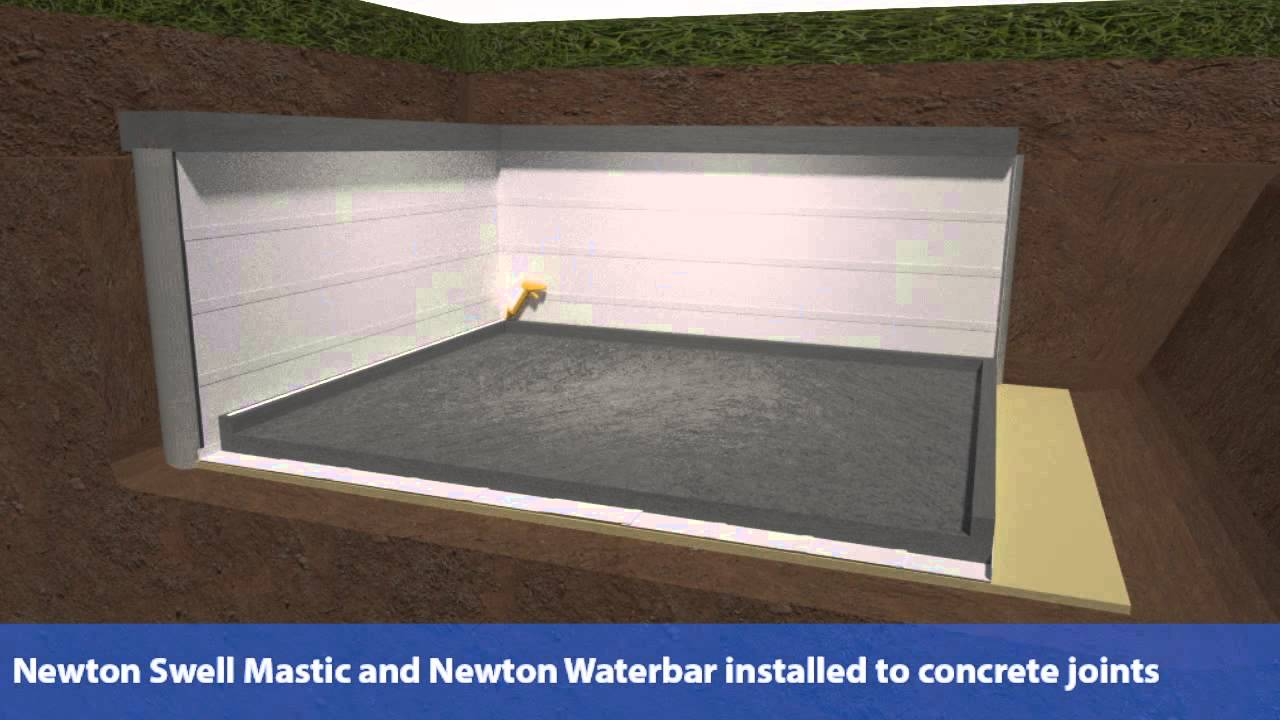 External basement waterproofing new build youtube for New construction basement