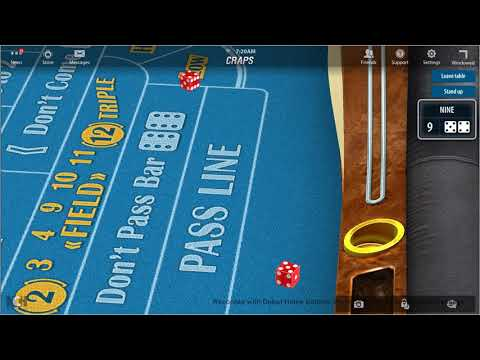 Early Morning Online Craps Action
