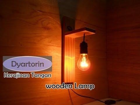 Kreasi Sederhana Lampu Dinding dari Kayu Palet Bekas | Wooden Lamp