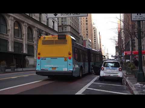 NYC Bus: Waterside bound LFS Artic 5450 M34A SBS at 34 St/5 Av