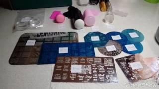 Покупки с АлиЭкспресс.  Стемпинг: пластины,  штампики,  краска для стемпинга.(, 2017-05-06T12:59:00.000Z)