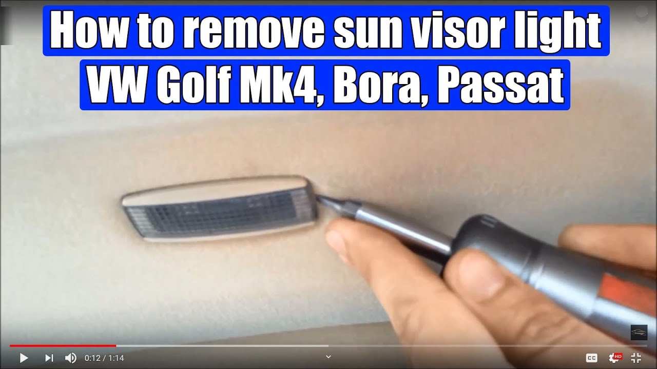 how to remove sun visor light vw golf mk4, bora, passat, in 2 steps Sun Visor Caps how to remove sun visor light vw golf mk4, bora, passat, in 2 steps