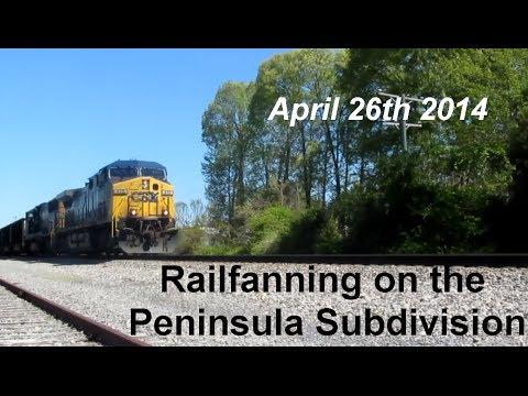 Railfanning on the CSX Peninsula Subdivision