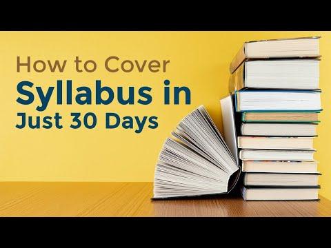 १ महिनामा पुरै Syllabus कसरि सक्ने?? How to finish whole syllabus in one month