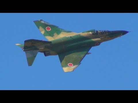 2012百里基地航空祭 偵空RF-4ファントム ノータンク戦術偵察デモフライト