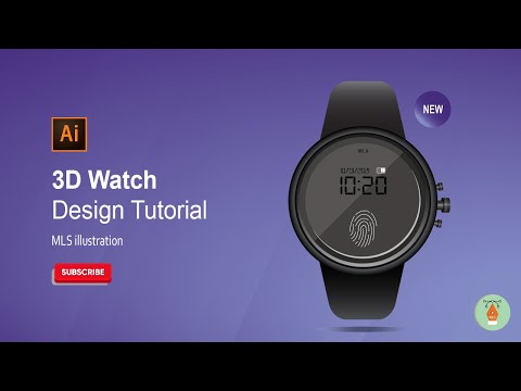 How to Design a Real Watch in Adobe Illustrator   Adobe Illustrator Tutorial   MLS Illustration