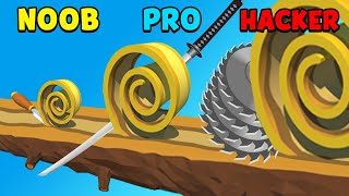 NOOB vs PRO vs HACKER - Spiral Roll