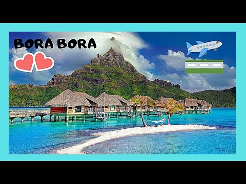 BOAT TRIP from beautiful BORA BORA to the AIRPORT, PACIFIC OCEAN (great views)