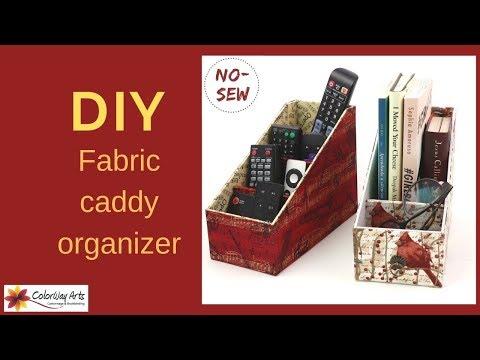 Make a fabric caddy organizer / DIY cartonnage fabric box