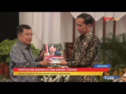 Mengharukan, Perpisahan Jokowi dan Para Menteri Kabinet, Ada Yang Berangkulan