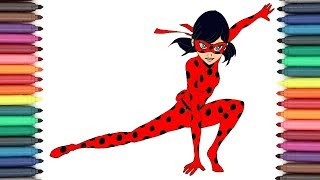 ladybug miraculous draw drawing easy step