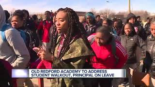 Detroit students, parents demand answers after teacher, principal placed on leave