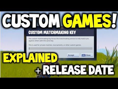 can you do custom matchmaking in fortnite