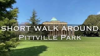 4K virtual  video walk around Pittville Park in Cheltenham Gloucestershire
