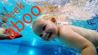 UnderWater Fun at the Pool With Isaac (2 y/o) and Elizabeth (4 y/o)