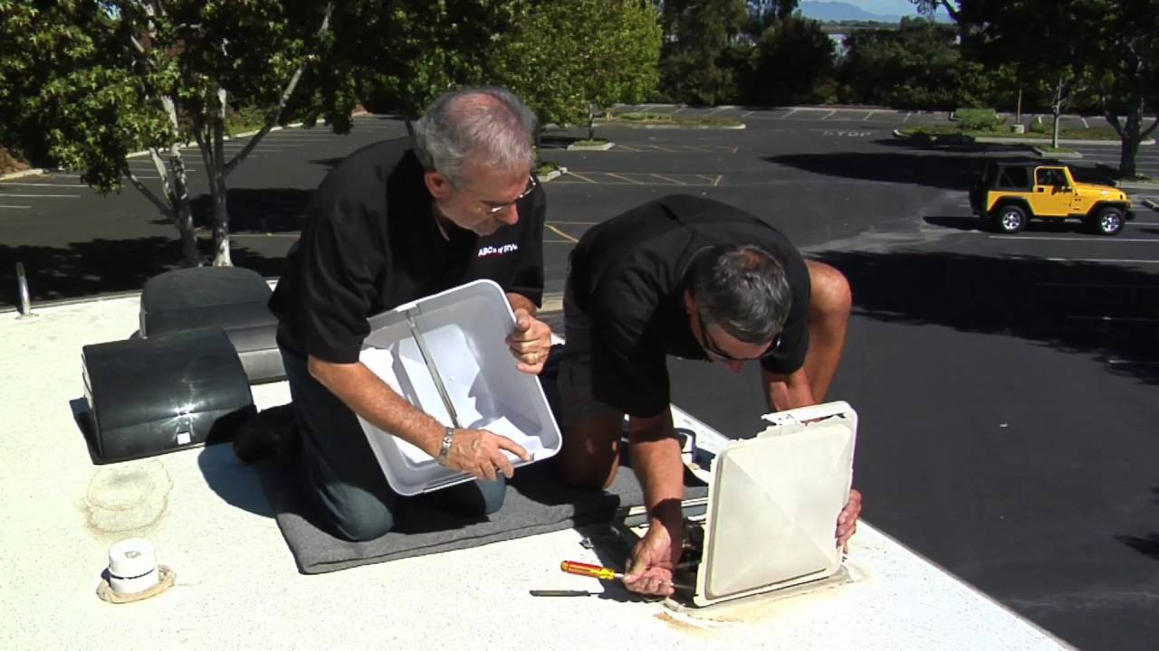 Replace An Rv Roof Vent Cover Youtube