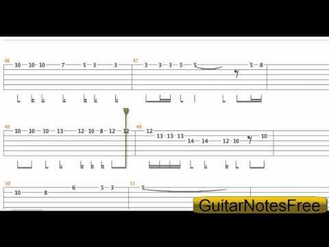 Metallica - Mama Said Guitar Tab HD