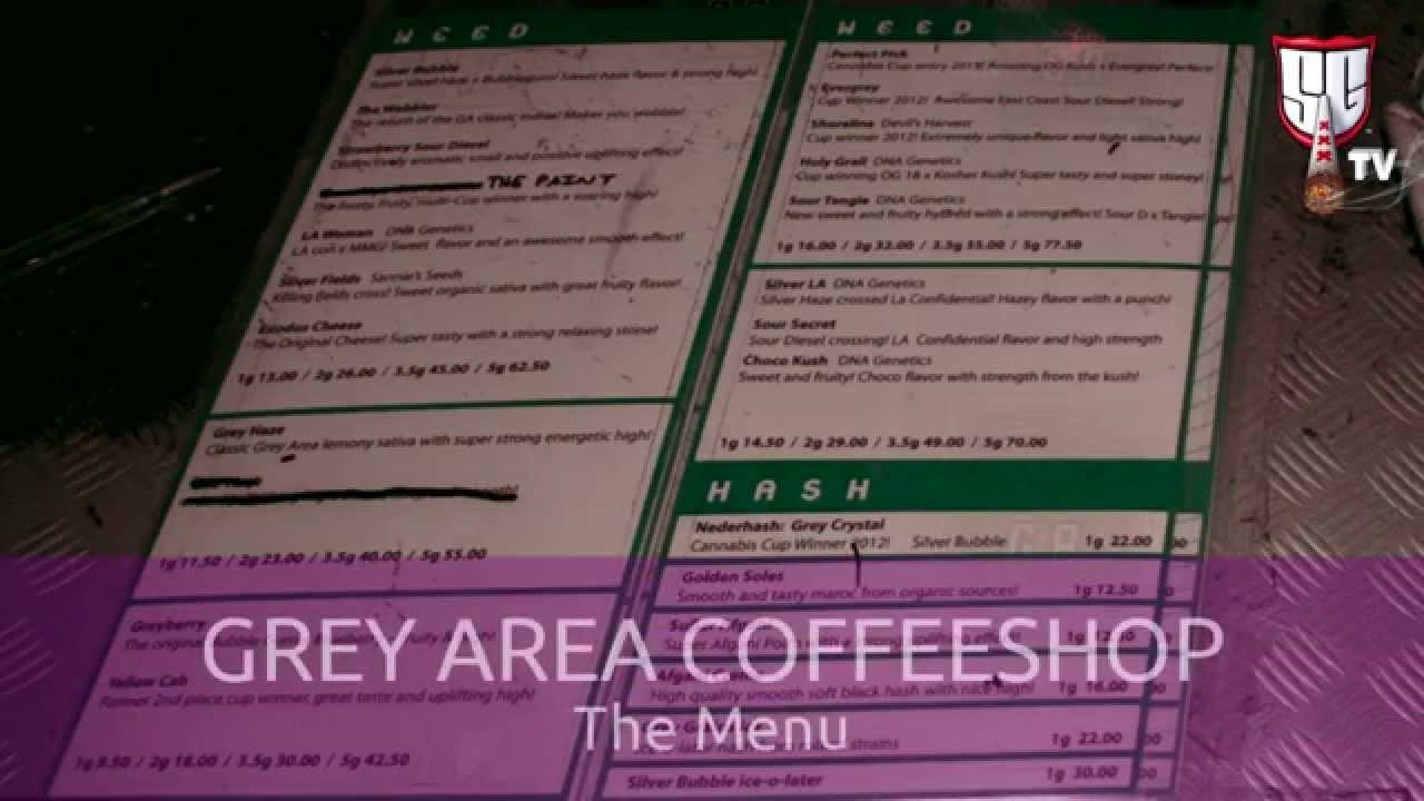 Amsterdam Coffee Shops Menu