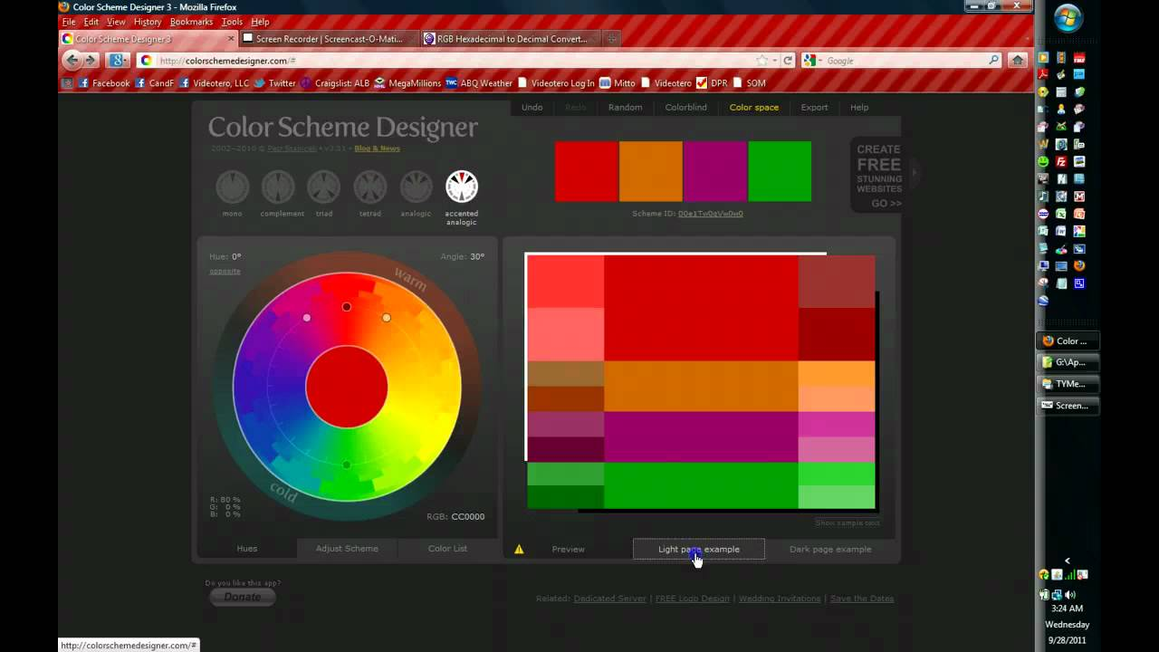 Color Scheme Designer how to use color scheme designer