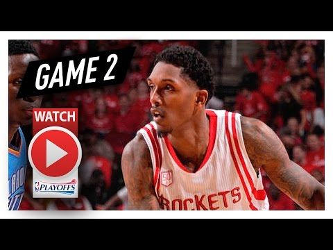 Lou Williams Full Game 2 Highlights vs Thunder 2017 Playoffs - 21 Pts off the bench!