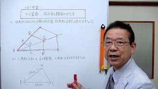 辺や対角線を使って、拡大図と縮図をかく方法を説明しました。 学年別の...